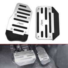 Auto Car Racing Sports Non-Slip Automatic Car Gas Brake Pedals Pad Cover Silver