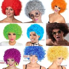 CURLY AFRO FANCY DRESS WIGS FUNKY DISCO CLOWN STYLE MENS/LADIES COSTUME 70S