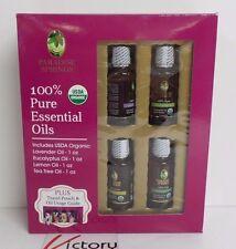 NEW Paradise Springs Essential Oils Organic Lavender Eucalyptus Lemon Tea Tree
