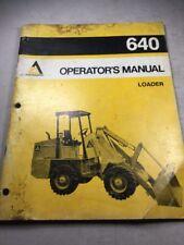 Allis Chalmers 640 Loader Operators Manual