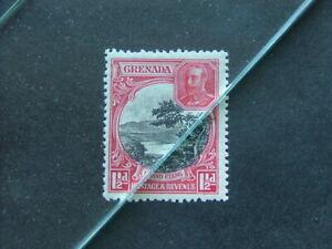 Grenada KGV 1934 1½d black & scarlet P12½ SG137 LMM