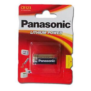 1 x Panasonic CR123 CR123A Battery Lithium DL123 3v Photo camera DL123 CR17345