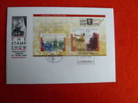 2000 THE STAMP SHOW LONDON OVERPRINTED MINI SHEET LARGE COVER