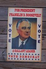 Franklin D Roosevelt #1 campaign poster