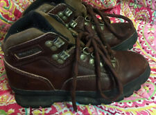 Women's Size 6M Timberlands work or hiking boots brown leather GOOD SHAPE!