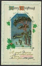 1911 Christmas Postcard Henlade to Taunton KGV 1/2d HENLADE CDS Fine Used