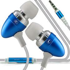 Twin Pack - Baby Blue Handsfree Earphones With Mic For Motorola Moto E