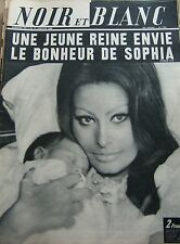 SOPHIA LOREN et son BEBE CARLITO en COUVERTURE de NOIR et BLANC No 1241 de 1969