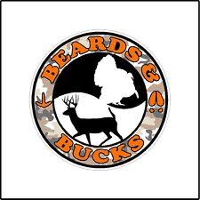 Beards and Bucks Color Deer Turkey Hunting  Car Window Laptop Decal