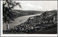 Oberwesel Rheinland-Pfalz Postkarte ~1935/40 Panorama Gesamtansicht ungelaufen