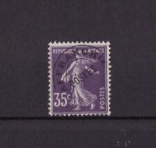 timbre France préoblitéré   semeuse  35c violet    n° 62  **