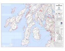 Postcode Sector Map 24 Islay and Kintyre - Laminated Wall Map