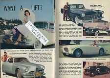 1956 Tv Article~Dodge Le Femme~Austin Healy~Alfa Romeo-Jack Conte~Corvette