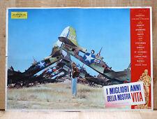 I MIGLIORI ANNI DELLA NOSTRA VITA poster fotobusta Old Airplane Aereo BP20
