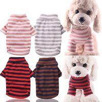 Hundeshirt Streifen Welpe T-Shirt Mantel Hundepullover Chihuahua Hundekleidung