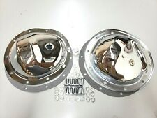 Chevy / GMC 4wd 10 Bolt Front & Rear Chrome Steel Differential Covers 77-91 K-5