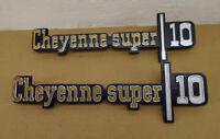 NOS 1973-1976 Chevrolet, Cheyenne Super 10 Fender Emblems (RARE)