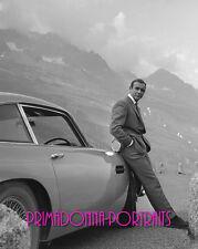 "SEAN CONNERY 8x10 Lab Photo 1964 ""GOLDFINGER"" Aston Martin DB5 Bond Portrait"