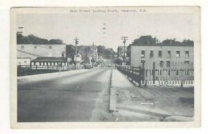 c1940 Postcard: Panoramic View of Main Street Looking South – Penacook, NH