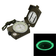 Metal Waterproof Professional Pocket Military Army Geology Compass Navigator wi