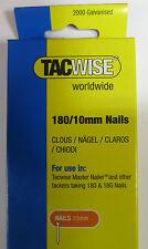 2000 pack TACWISE/Stanley/Rapid 180/10mm 18gauge Nails 191EL Nailer/Staple guns