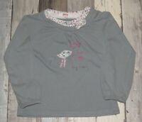 ~ 5 ans SHINY de gémo - TIF371  ~ Joli t-shirt ML en coton épais Fille ~