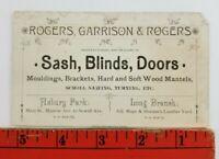 Vintage 1900's Sash Blinds Doors Dealer Asbury Park New Jersey Business Card