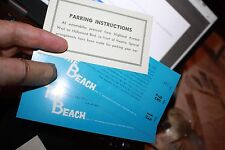 1959 SCI-FI Classic On the Beach Worl Premier Tickets Gregory Peck Parking Pass
