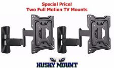 "2 Full Motion TV Bracket Fits Most 32 40 42"" Tilt Swivel Articulating Wall Mount"