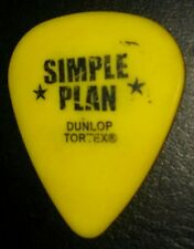 Simple Plan Punk Rock Sebastien Lefebre Yellow Concert Tour Guitar Pick Rare