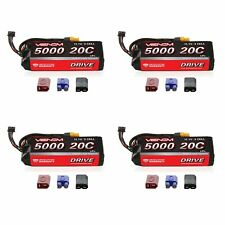 Venom 20C 3S 5000mAh 11.1V LiPo Battery with Universal Plug System x4 Packs