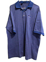 JEFF ROSE Mens Blue Cotton Shirt Sleeve Polo Shirt Sz XL Large Made in Italy B3