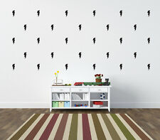 Lightning Bolt Wall Stickers Wall Decals 42 per pack. Choice of colour