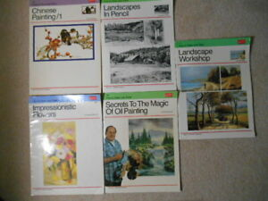 """Lot of 5 Vintage """"Walter Foster"""" Art Books How To Draw And Paint Instructional"""