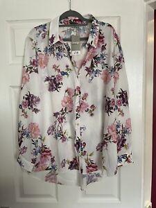 Asda George, Ladies Floral Shirt, Size 20