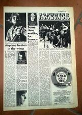 JOHN LENNON 'in USA' 1972  UK ARTICLE / clipping