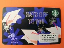 "Starbucks gift card ""HATS OFF 🎓 TO YOU 20/20"" CONGRATS CARD~NO VALUE~GREAT $$$"