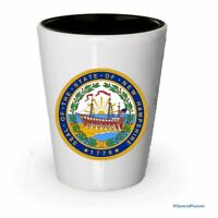 The state seal of New Hampshire Shot glass - Gifts for New Hampshire People (4)