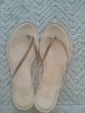 Banana Republic Womens White Leather Thong Flip Flop Sandals size 8