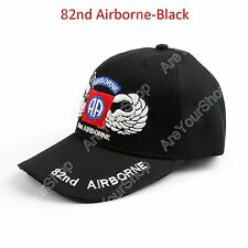 NEW United States Army 82nd Airborne Cap Silver Jump Wings Hat Tactics Ball Cap