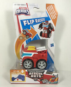 Playskool Heroes Transformers Rescue Bots Flip Racers Heatwave The Fire Bot New