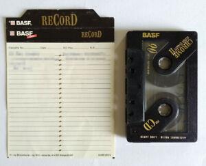 MC Musicassetta BASF reCorD For CD 90 Vintage Compact Audio Cassette Tape USATA