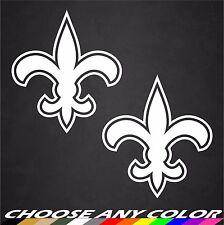 2 - Fleur De Lis Symbol Vinyl Car Window Decal New Orleans Saints Stickers
