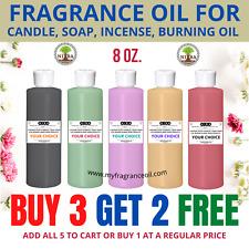 8 Oz Fragrance Oil For Diy Candle Soap Bath Bomb Oil Burner Incense Making Scent