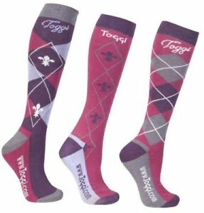 Toggi Chestermere Socks - Pack of 3 (Deep Pink or Navy)