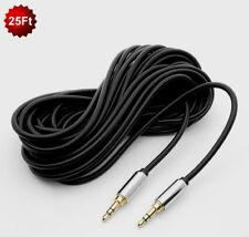 "25Ft Premium 3.5mm 1/8"" Stereo Male to Male Aux Plug Audio Sound Cable Cord Gold"