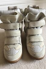 Isabel Marant suede beige trainer/wedge boot  size 5