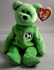 TY Beanie Baby very rare KICKS the BEAR Collectible with Tag Errors1998