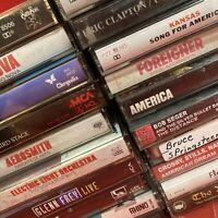 40 Classic Rock Cassette Lot Boston Clapton Aerosmith Springsteen ELO Cars Tull