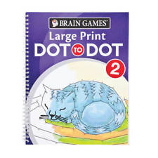 Brain Games Large Print Dot-to-dot 2 by Editors of Publications MINT